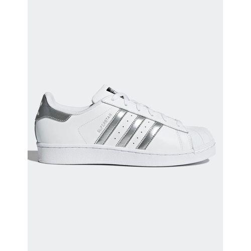 tenis-adidas-superstar-branco-e-prata