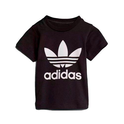 Camiseta-Adidas-Infantil-Trefoil-Preta-
