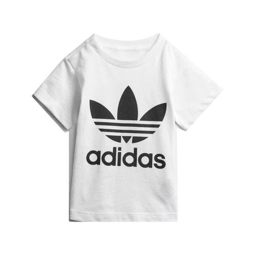 Camiseta-Adidas-Infantil-Trefoil-Branca-