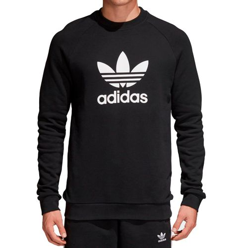 Moletom-Adidas-Warm-Up-Crew-Trefoil-Preto