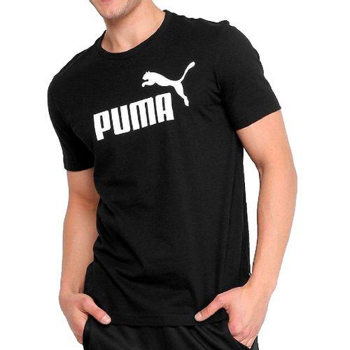 Camiseta-Puma-Essentials-Preta
