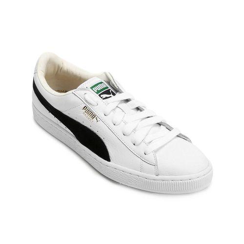 Tenis-Puma-Basket-Classic-Branco-e-Preto