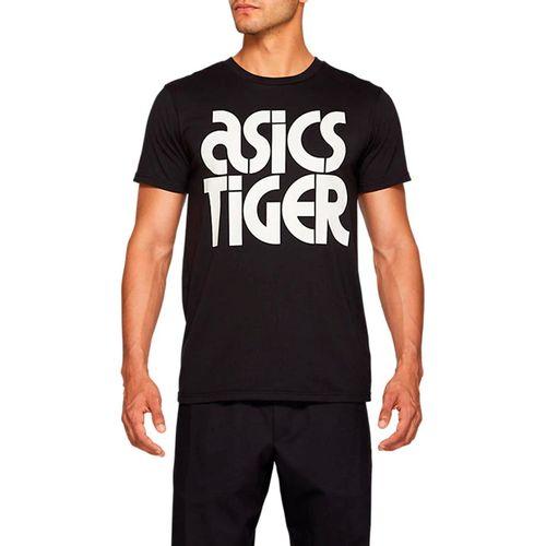 Camiseta-Asics-Logo-Preta