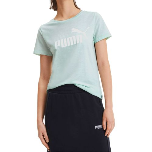 Camiseta-Puma-Essentials---Women-s-Heather---VERDE---PP