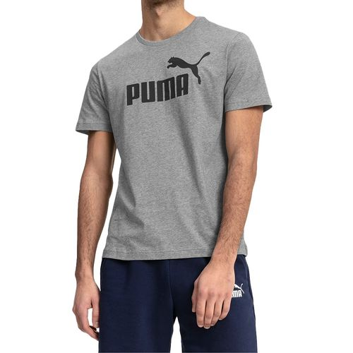 Camiseta-Puma-Essencials-Cinza