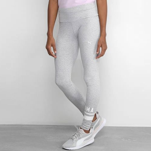Calca-Puma-Athletic-Logo-Legging-Cinza