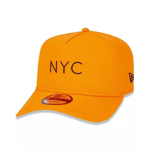 Bone-New-Era-9Forty-A-Frame-Simple-Signature-NYC-Fluor-Laranja