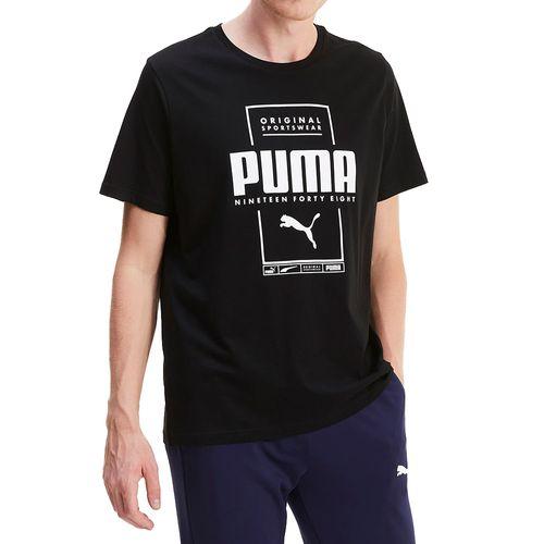 Camiseta-Puma-Logo-Nineteen-Preto