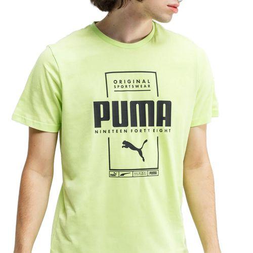 Camiseta-Puma-Logo-Nineteen-Verde
