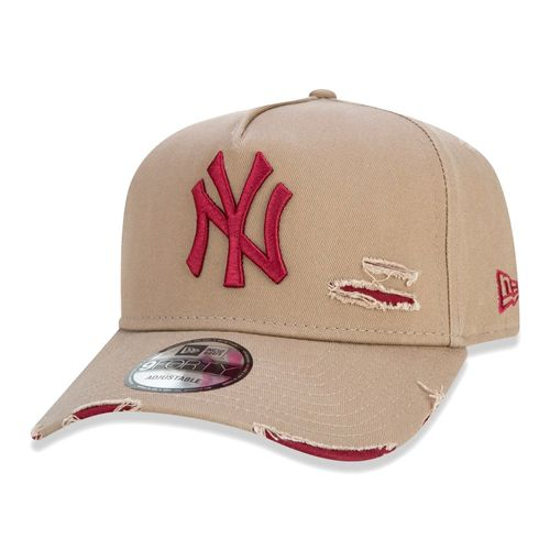 New-Era-9Forty-New-York-Yankees-Destroyed-Bege