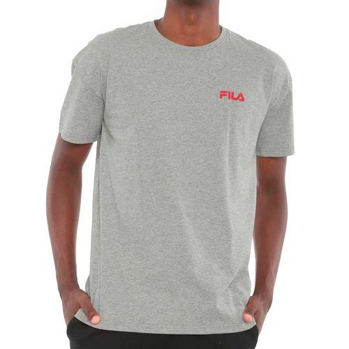 Camiseta-Fila-Black-Logo-Cinza