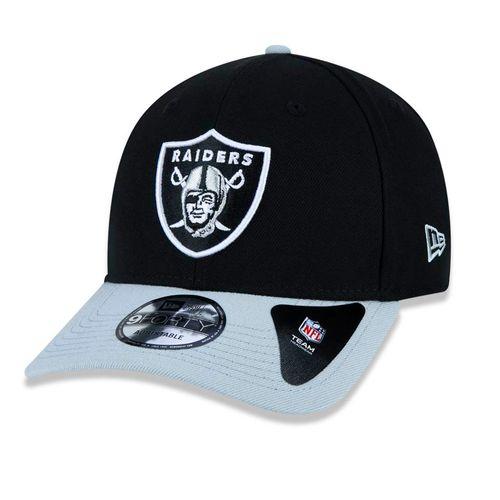 Bone-New-Era-9FORTY-High-Crowl-NFL-Oakland-Raiders-